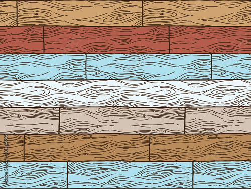 Poster Rijstvelden Vector seamless pattern. Wood background. Can be used for desktop wallpaper or frame for a wall hanging or poster,for pattern fills, surface textures, web page backgrounds, textile and more