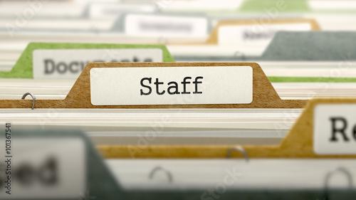 Fotografía Staff Concept on Folder Register.
