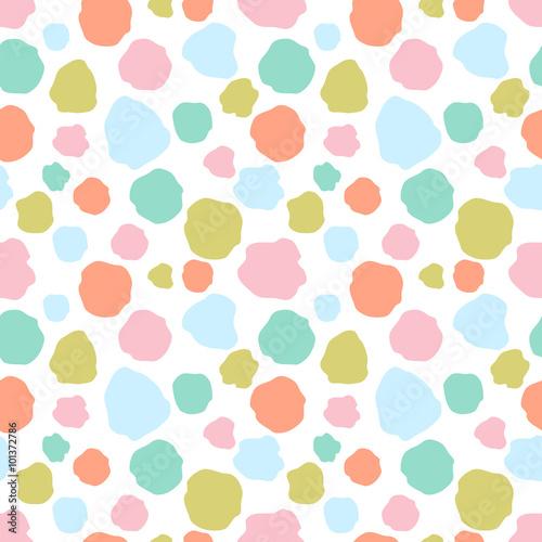 Materiał do szycia Bezszwowe kolorowe kropki wzór