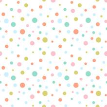 Seamless Colorful Dots Pattern