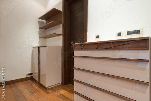 Foto op Canvas Trappen Apartment interior, wooden furniture