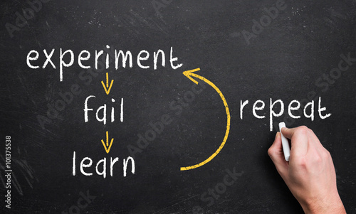 Fotografie, Obraz  experiment, fail, learn, repeat