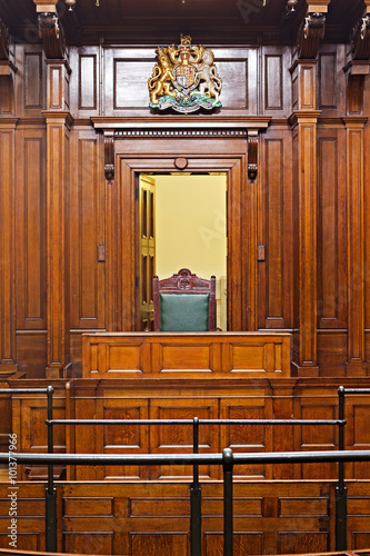 Fotografija  Crown Court Room dating from 1854