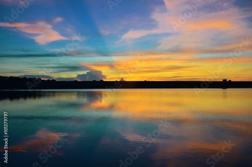 colors sunset sky