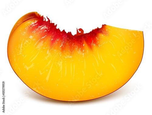 Fotografia Slice of ripe peach
