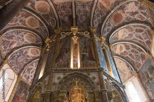 Photo  Round Church and Charola of the Knights Templar in Convent of Christ in Tomar