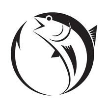 Symbol Tuna And Hook, Vector