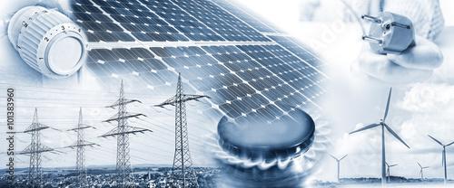 Obraz Energieversorgung mit Strom und Gas - fototapety do salonu