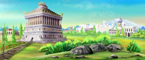 Fotografia Mausoleum of Halicarnassus - one of the wonders of the world.