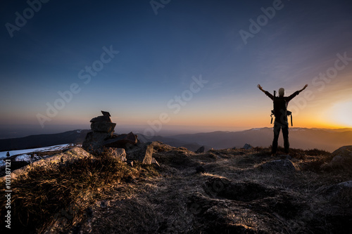 Photo Alpiniste concept vision
