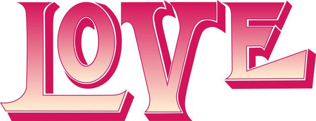Plakat Miłość napis