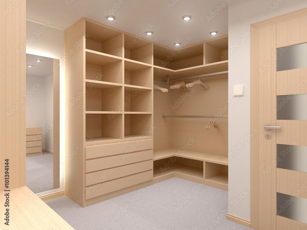 Fototapeta Modern wardrobe