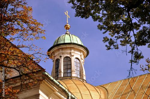 Krakau - Turmspitze in der Altstadt Wallpaper Mural