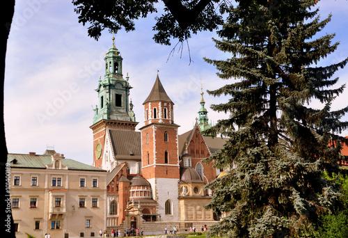 Krakau - Komplex des Wawelschlosses mit Wawel-Kathedrale Canvas Print