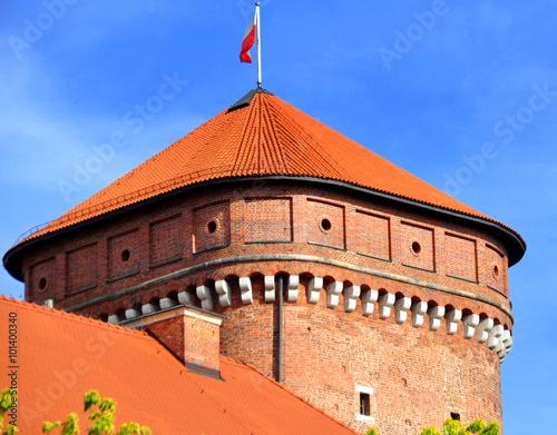 Krakau - Senatorska Turm am Königsschloss auf dem Wawel Wallpaper Mural