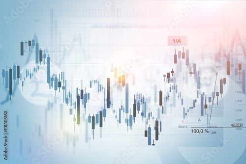 Fotografie, Obraz  Financial Concept Background