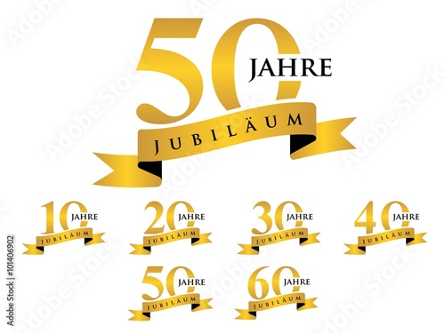 Fotografie, Obraz  jubilaum element gold
