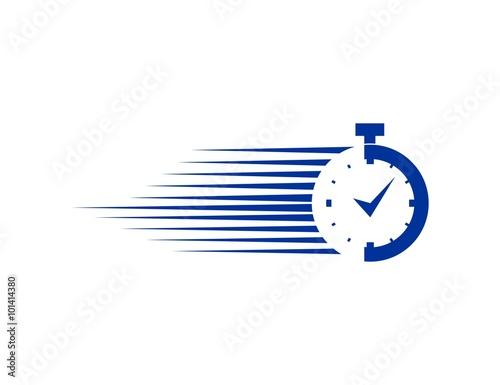 Fototapeta Stopwatch logo obraz