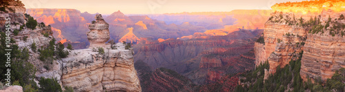 Leinwand Poster Grand Canyon Sunset Panorama