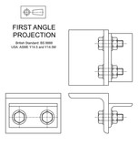 Fototapeta Sport - First Angle Orthographic Projection