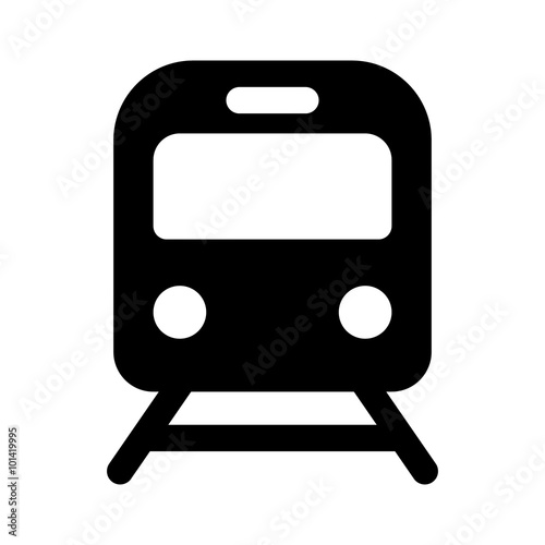 Train / railroad / subway flat icon for transportation apps and websites
