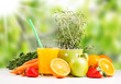 Fresh juice orange, Healthy drink, breakfast concept, Nature fruits and vegetable