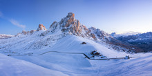 Winter Landscape Of Passo Giau...