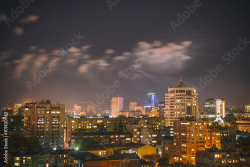 Poster Bordeaux Night landscape of the city of Rostov-on-don