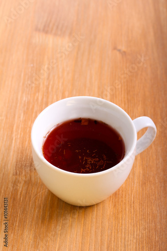 In de dag Chocolade Red hibiscus tea in a cup