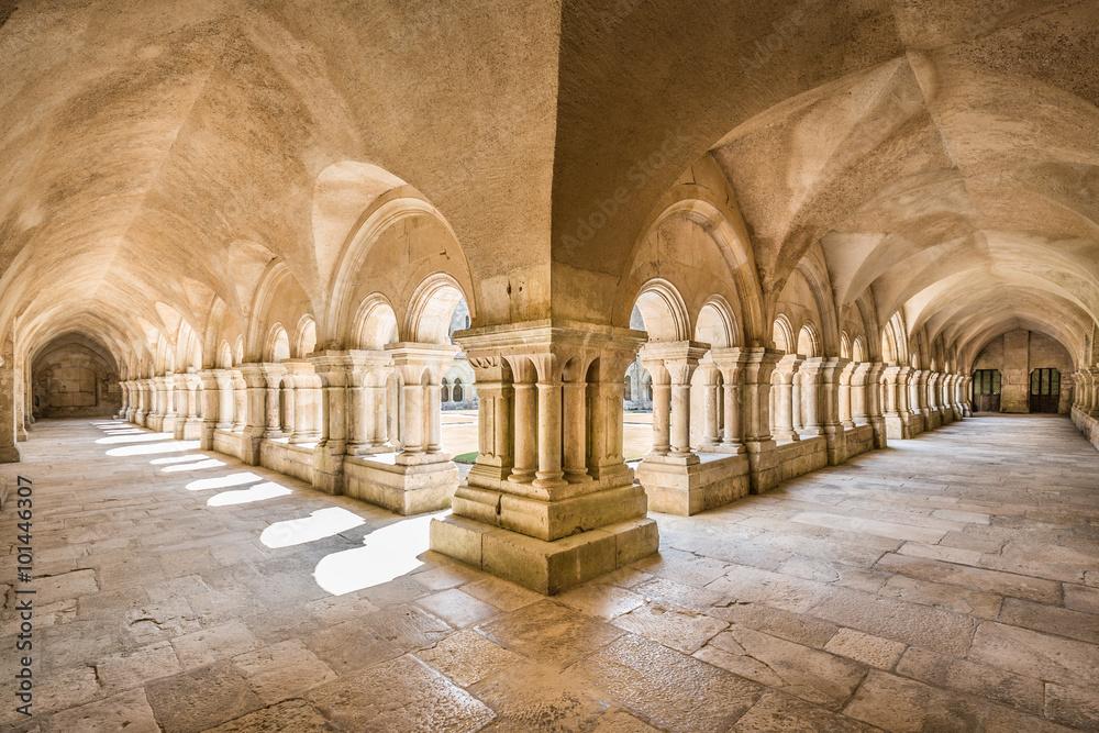 Fototapety, obrazy: Abbey of Fontenay UNESCO World Heritage Site, Burgundy, France