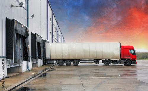 Vászonkép Truck, transportation