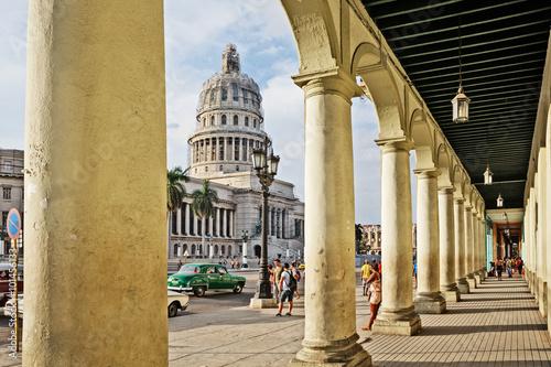 Foto op Plexiglas Havana Cuba, La Habana, Capitolio, Paseo de Martí (Prado)