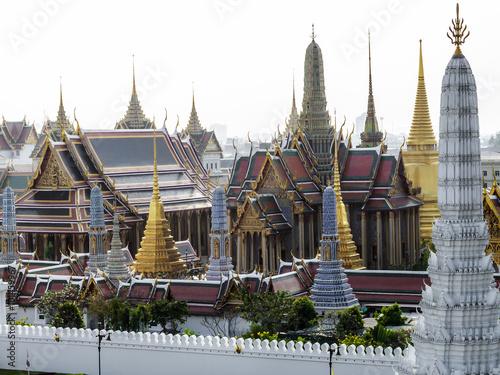Poster Bangkok Wat Phra Kaeo von oben