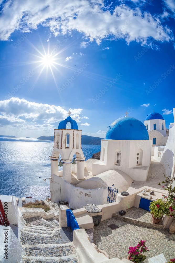 Fototapety, obrazy: Wioska Oia na wyspie Santorini w Grecji