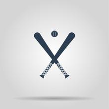 Vector Crossed Baseball Bats A...