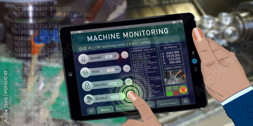 Fotografia  bas8 BuildingAutomationSign - remote monitoring - vertical machining with 4-axis