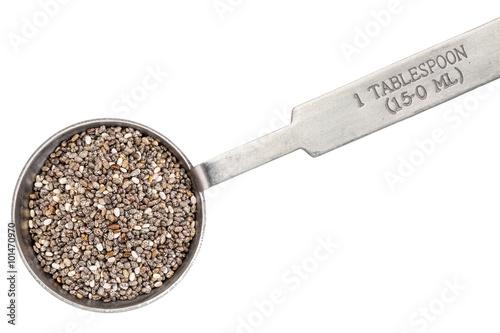 Fényképezés chia seeds on measuring spoon