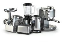 Metallic Kitchen Appliances. B...