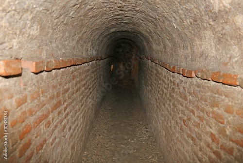 Papiers peints Tunnel brick tunnel of a secret underground passage