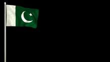 Pakistani Flag Waving In The W...