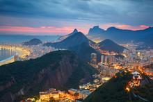 Night View Of Rio De Janeiro, ...