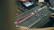 Proffesional sound engineer for sound mixer console