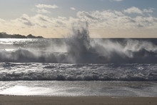 Monterey: Bench And Ocean