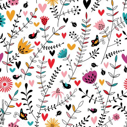 Okrągły abstrakcyjny wzór kwiatowy