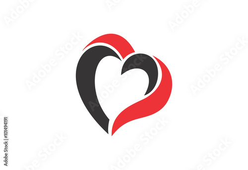 heart modern vector abstract circle creative sign logo buy this
