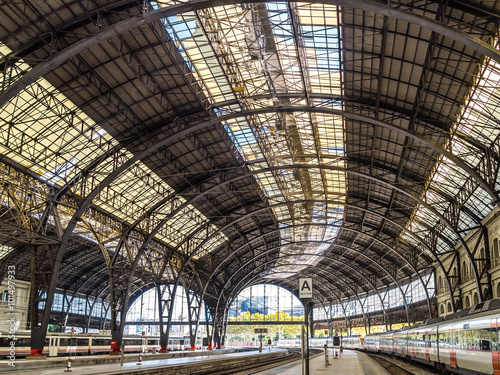 Staande foto Treinstation Barcelona Train Station