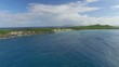 Aerial view of la Pointe des Chateaux, French West indies