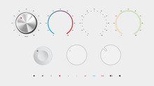 Volume Button Vector Illustration. All By Layers.