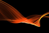 red glow energy wave. lighting effect abstract background with c