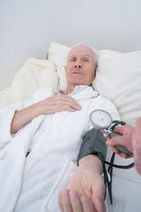 Doctor measuring blood